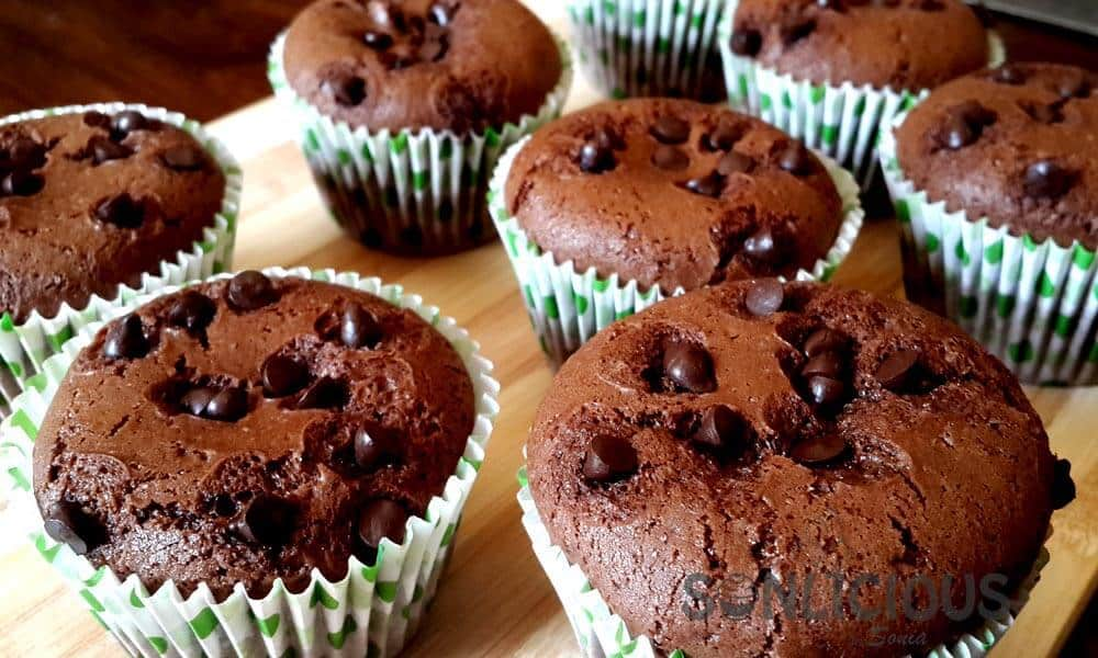 Chocolate Eggless Muffins without Condensed Milk