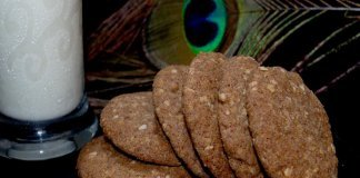 Ragi cookies with jaggery