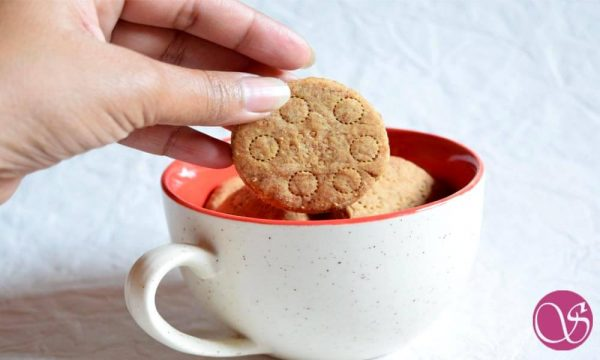 Homemade Atta Biscuits with Jaggery
