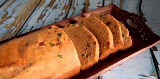 Britannia style Eggless Fruit Cake with Whole wheat