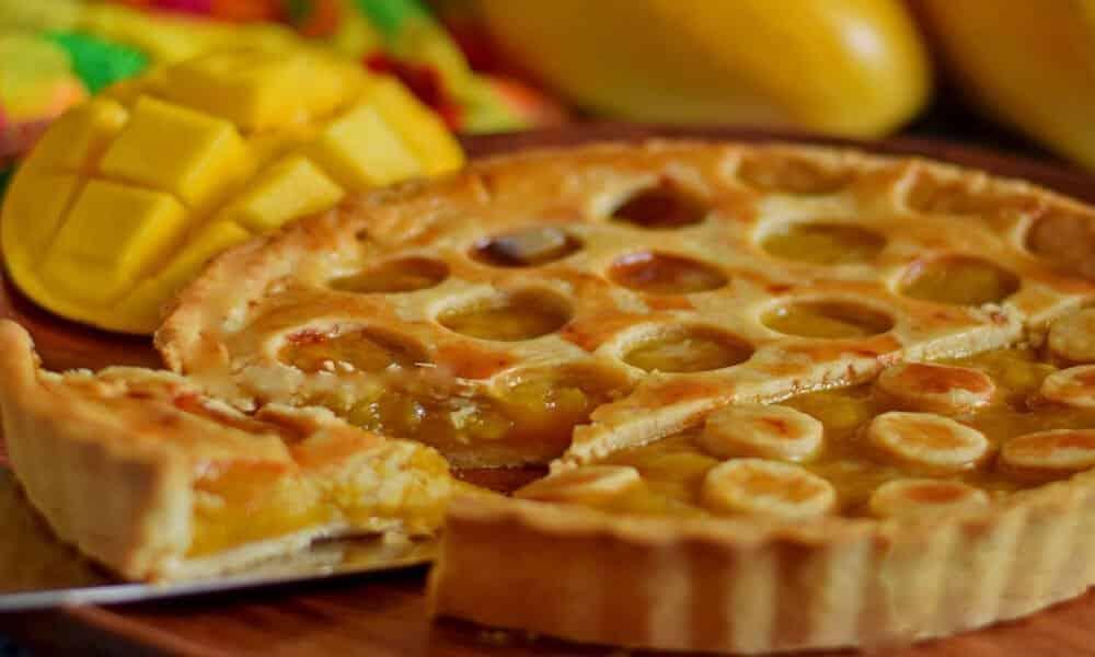 Eggless Whole Wheat Mango Pie