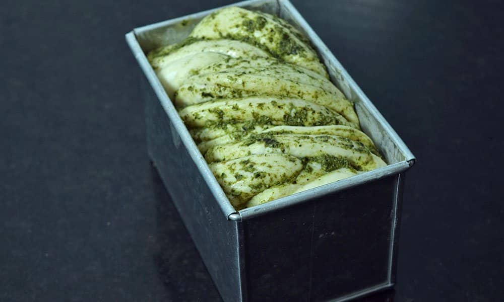 Pesto Babka Second Rise