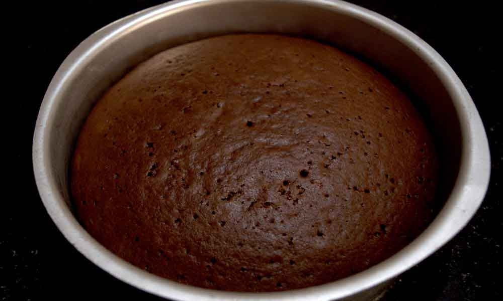 death by chocolate cake after baking