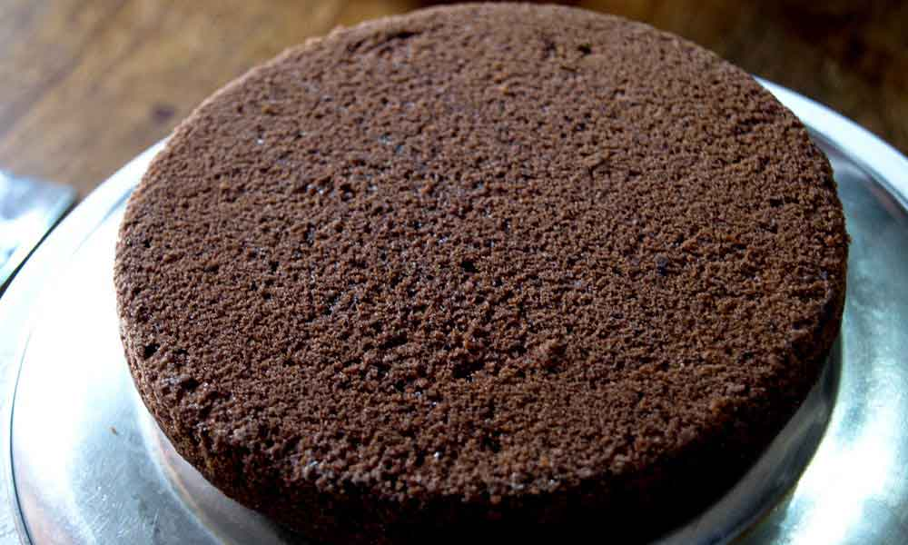 death by chocolate cake ready for assembling